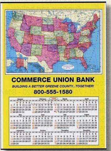 "Jumbo U.s. Map Wall Calendar (28""X40"")"