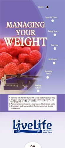 Managing Your Weight - Pocket Slider Chart/ Brochure