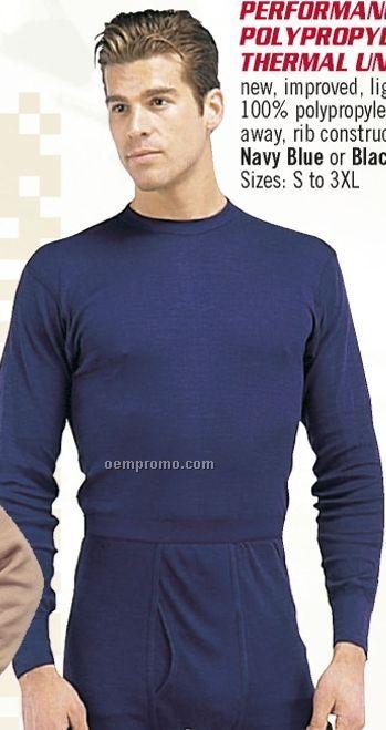 Navy Blue Performance Polypropylene Thermal Underwear Top