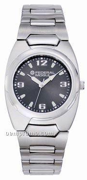 Pedre Men's Black Dial Navigator Metal Watch With Stainless Steel Bracelet