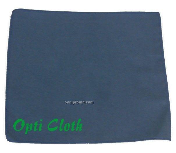 "Premium 12"" X 12"" Blue Opticloth With Silk Screened Imprint"