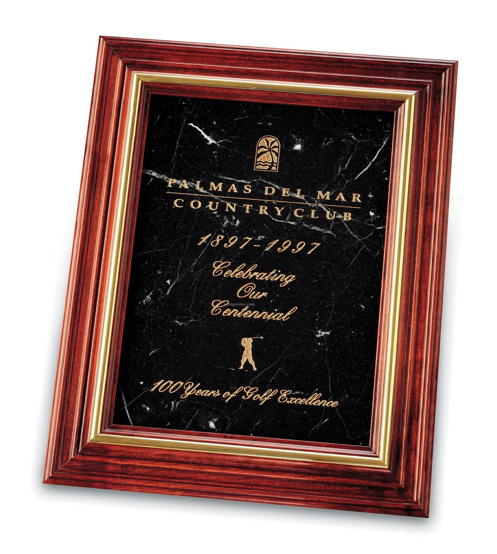 Small Cherry Plaque (Black Marble)