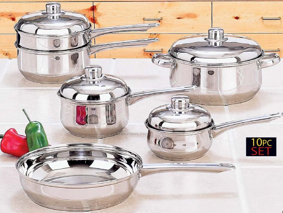 Yorkville 10 PC Stainless Steel Cookware Set