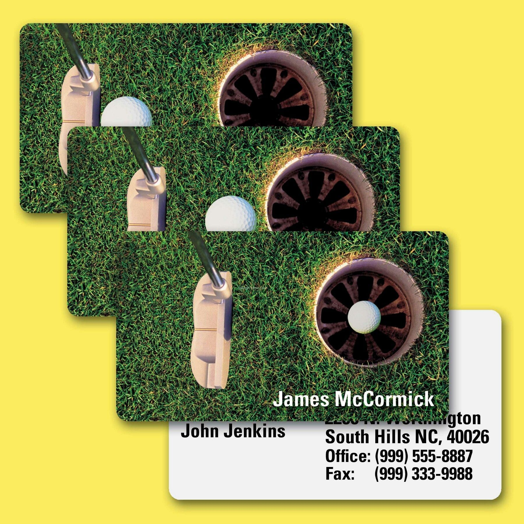 Business Card/Lenticular Golf Ball Animation Effect - Custom (2\
