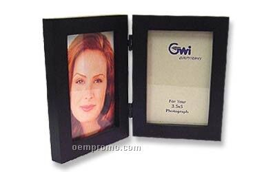 "Simple Wood Picture Frame - Double Folding Picture Frame 5"" X 7"" Black"