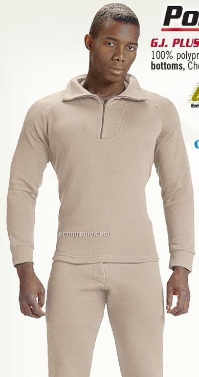 Youth Brown Extreme Cold Weather Polypropylene Underwear W/ Elastic Waist
