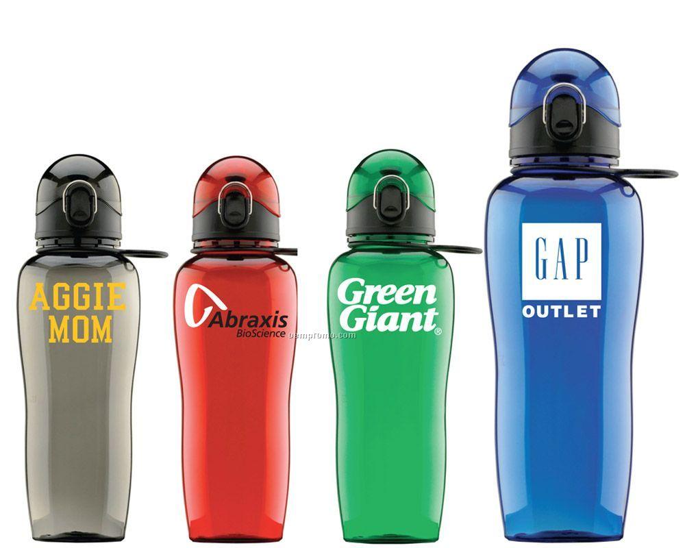 Bpa Free - 24 Oz. Polycarbonate Water Bottle With Locking Lid