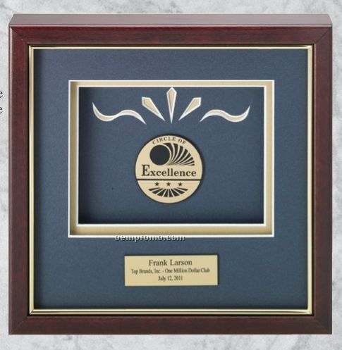 Professional Gallery Award Plaques W/ Rosewood Finish & Gold Highlight