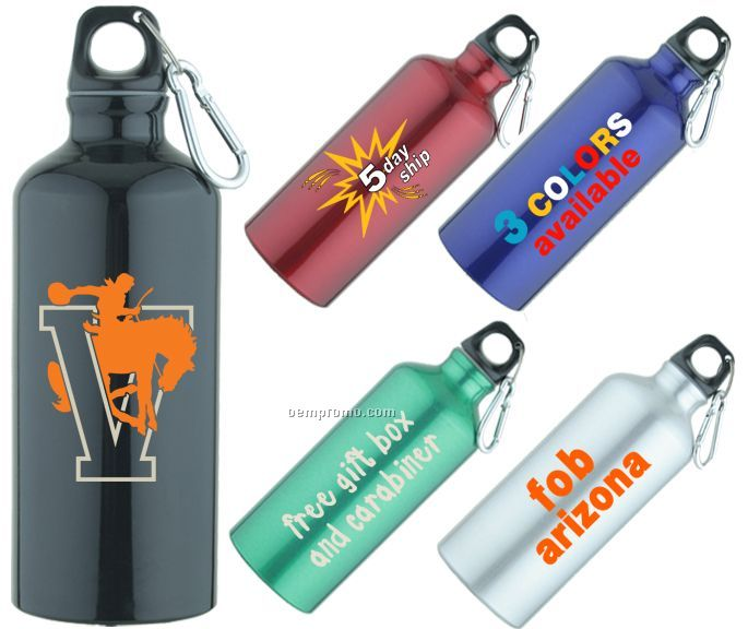 20 Oz. Aluminum Sport Water Bottle