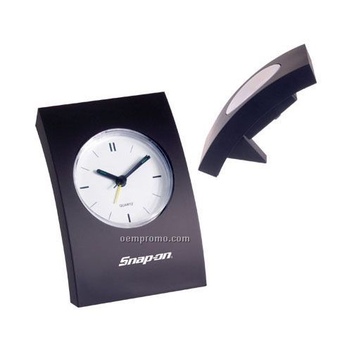 Arched Back Desk Clock With Alarm