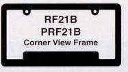 Hi-impact 3-d Corner View License Plate Frame W/2 Holes