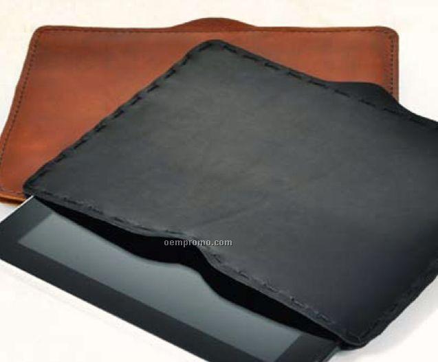 Machined Leather Ipad Holder