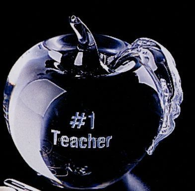 Distinctive Gift Gallery Glass Apple Paperweight
