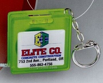 The Logo Dome Tape Measure/ Level And Key Chain