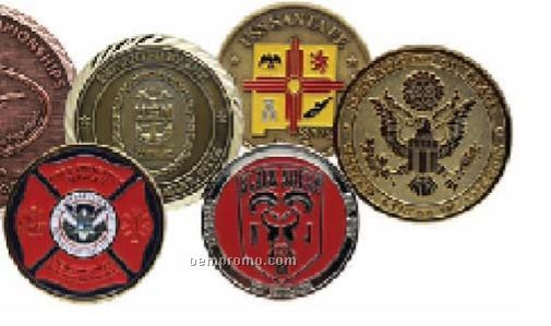 """Die Struck Brass Coin (1 3/4"""")"""
