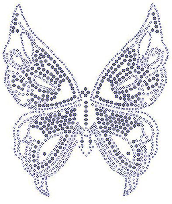 Gold Butterfly Rhinestone Transfer