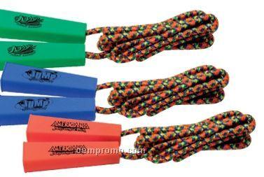 Rainbow Jump Rope - 1 Color Imprint On Both Handles