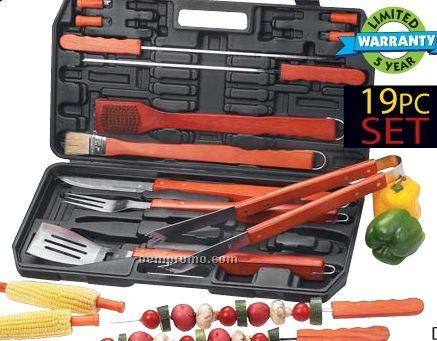 Chefmaster 22 PC Stainless Steel Barbeque Set