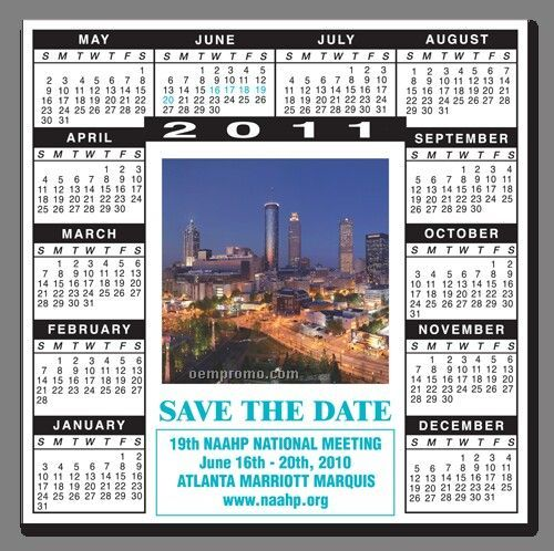 One Year Calendar & Picture Frame Magnet
