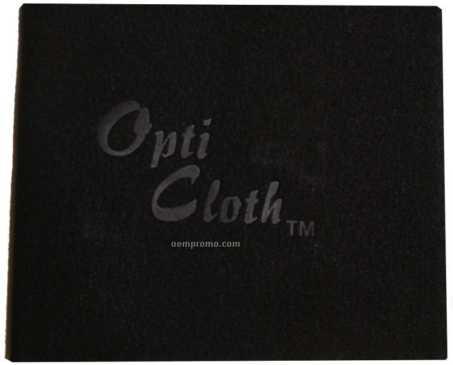"Premium 6"" X 6"" Black Opticloth With Debossed Imprint"
