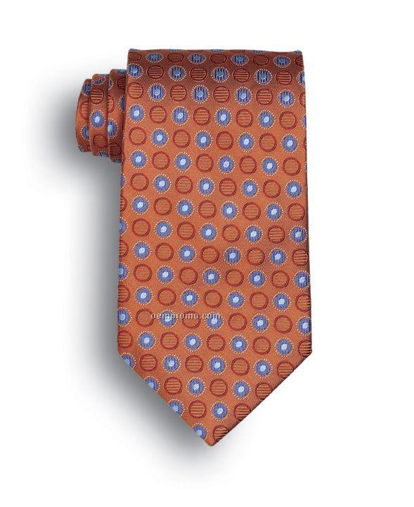 Wolfmark Ellison Bay Silk Tie -orange