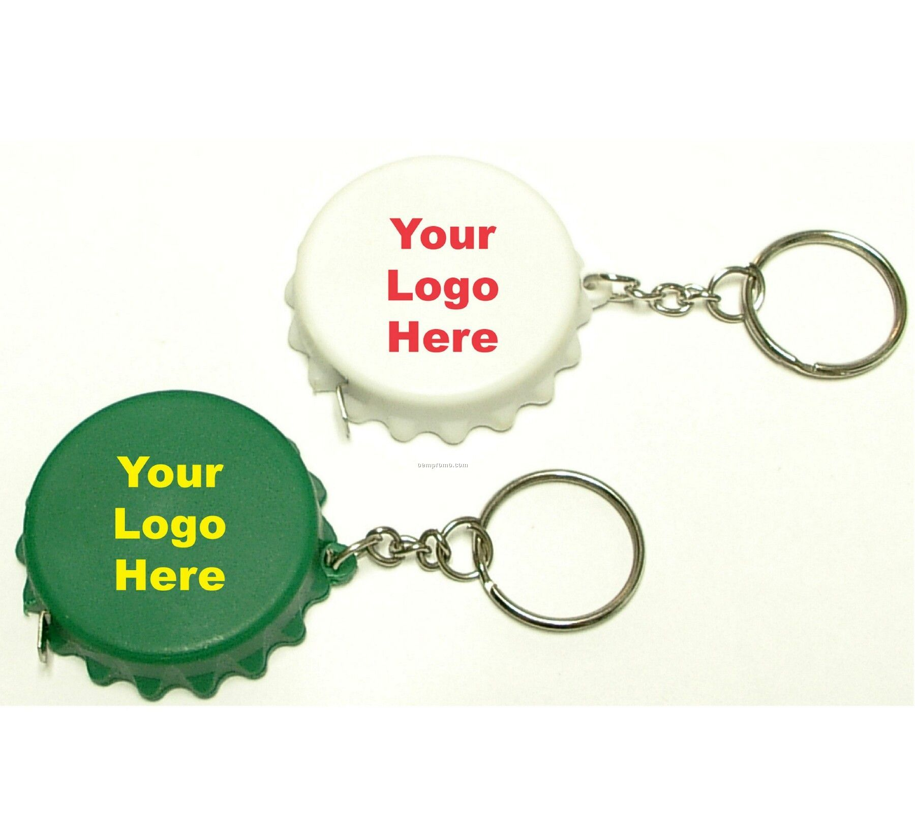 Bottle Cap Tape Measure Key Ring