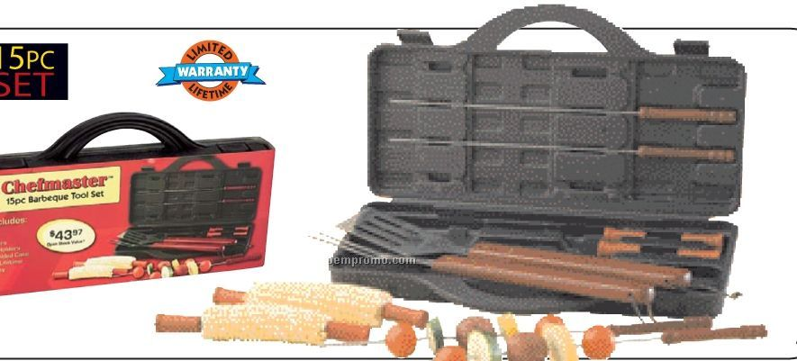 Chefmaster 15 PC Stainless Steel Barbeque Set