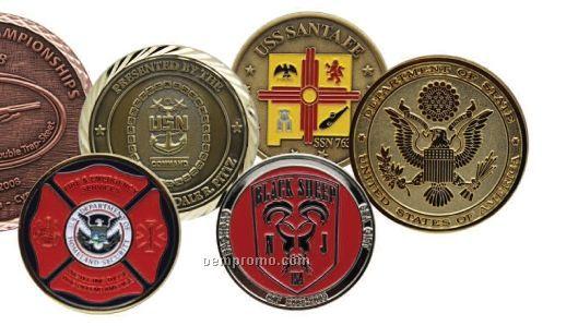 """Die Struck Brass Coin (1 1/2"""")"""
