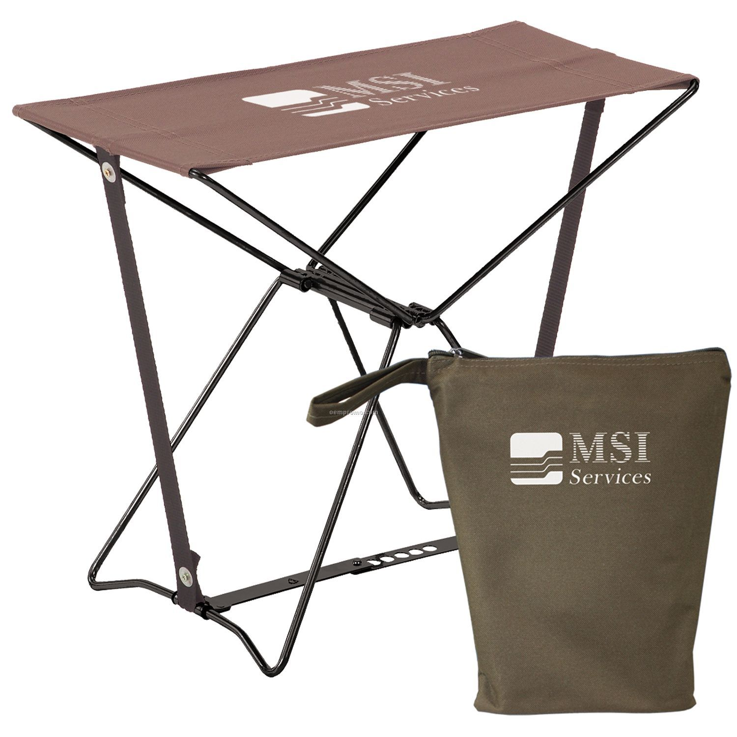 Deluxe Army Digital Camouflage Folding Camp Stool With