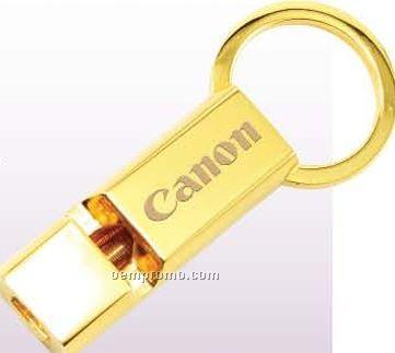 Pull N Twist Whistle Rectangular Key Tag