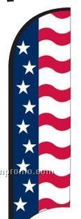 11' Street Talker Feather Flag Complete Kit (Us Flag)