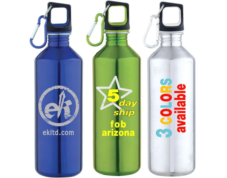 20 Oz. Stainless Steel Sport Water Bottle