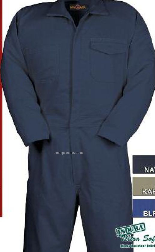"9 Oz. Ultra Soft Flame Resistant Work Coverall (Regular 38""-50"" Waist)"