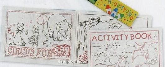 Custom 8 Page Coloring / Activity Book