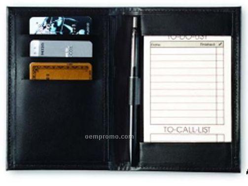 Executive Pocket Jotter W/ Credit Card Pocket - Regency Cowhide Leather
