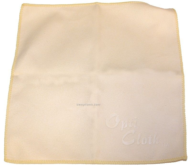 "Premium 6"" X 6"" Chardonnay Color Opticloth With Debossed Imprint"