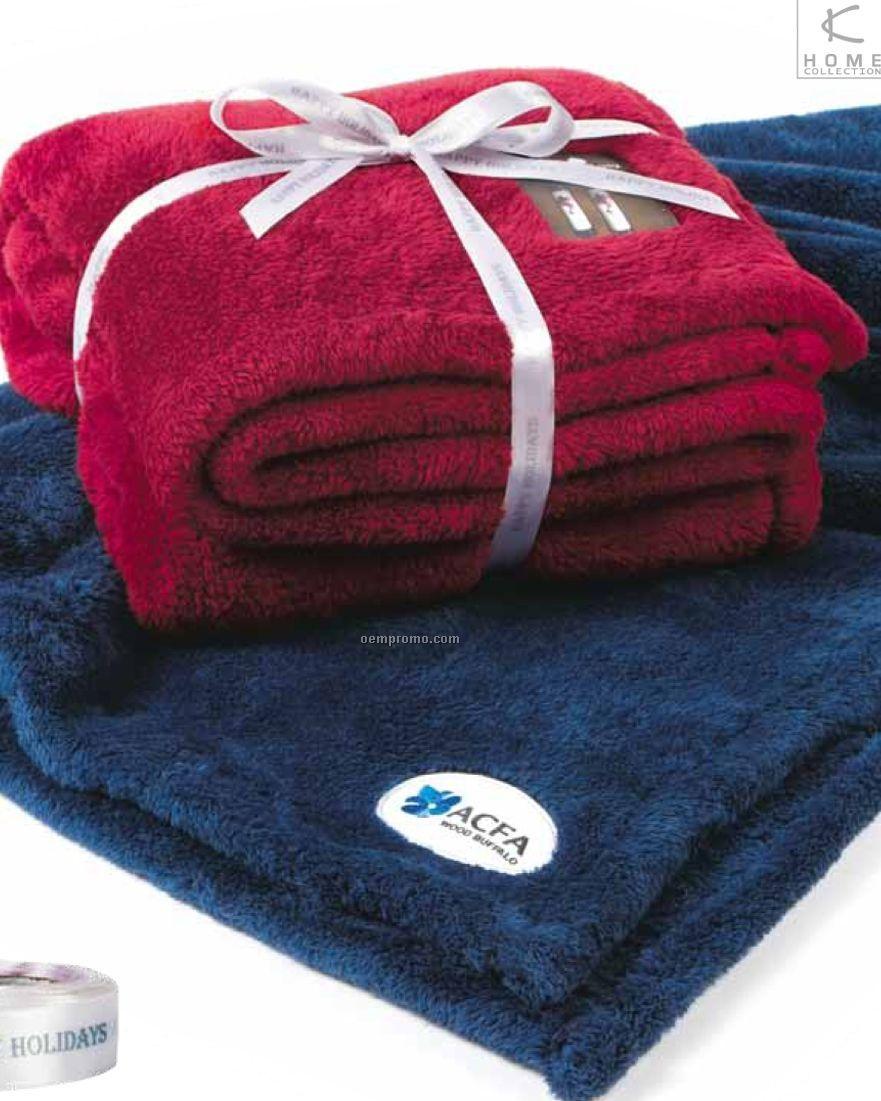 "Bordeaux Polar Throw Blanket (50""X60"")"