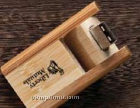 Flip Bamboo USB Flash Drive