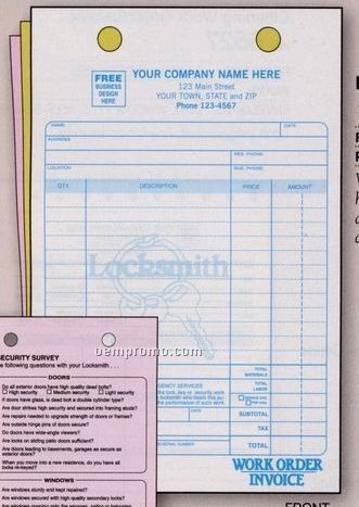 Locksmith Register Form (3 Part)