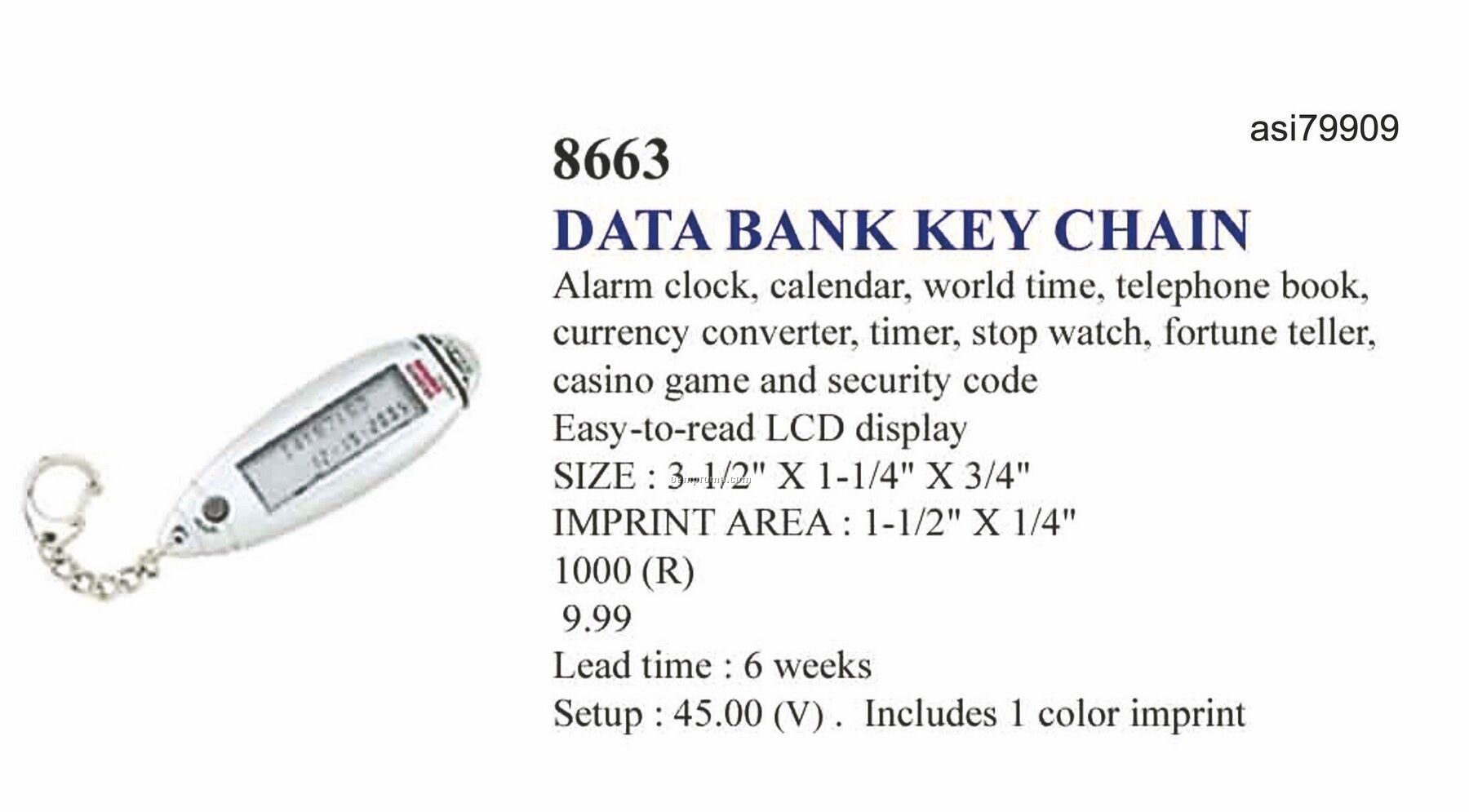 Promotekinc Data Bank Key Chain