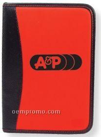 Red/ Black Vinyl Notebook W/Pen (Printed)