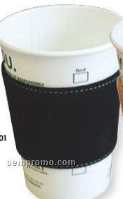 Black Suede Leather Coffee Sleeves