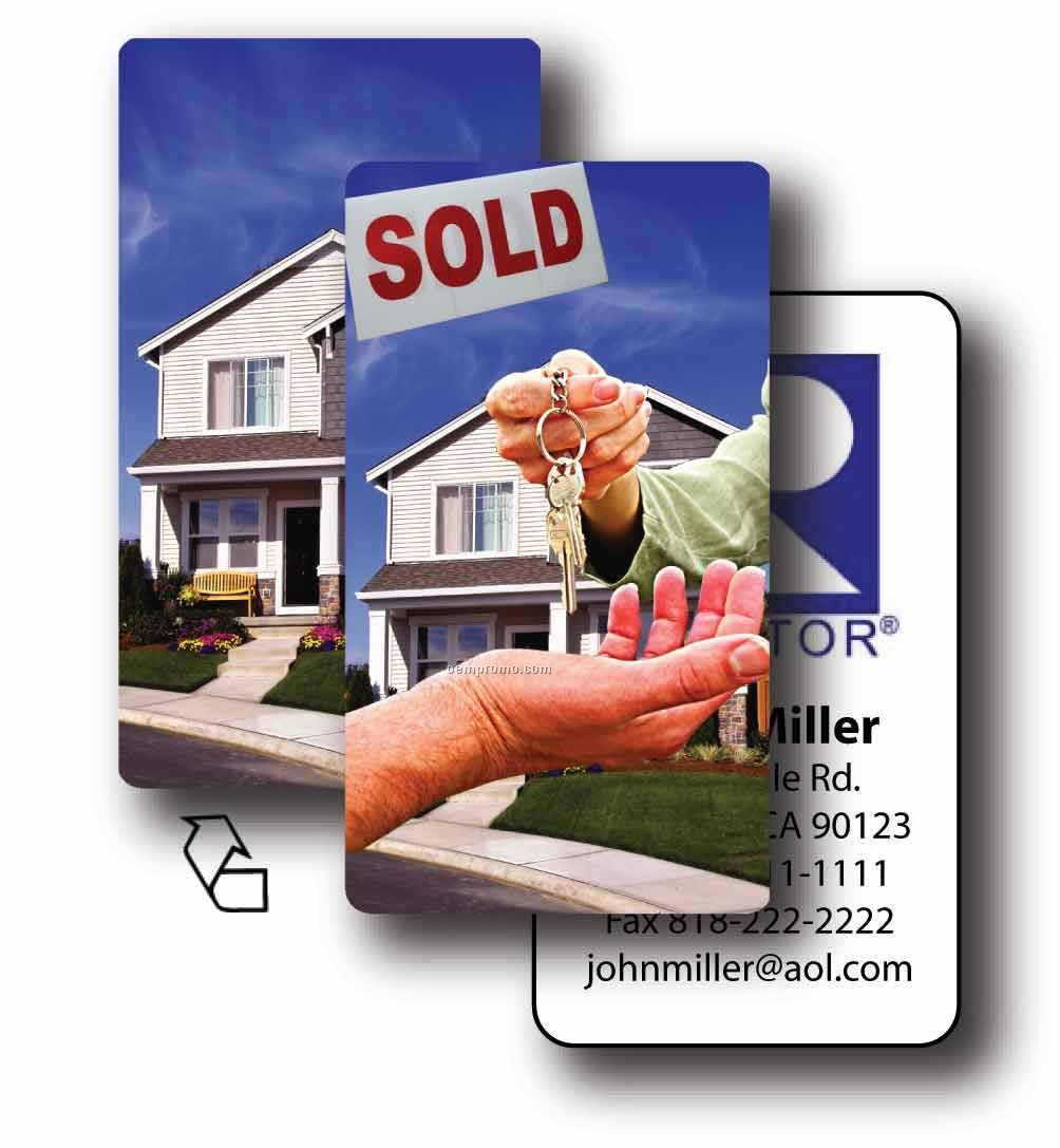 Business card lenticular real estate flip effect custom for House flipping business names