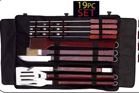 Chefmaster 19 PC Jumbo Barbeque Set