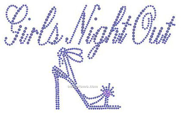 Girls Night Out Rhinestone Transfer
