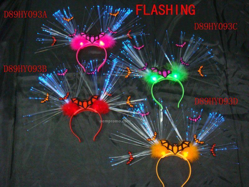 Halloween Flashing Fiber Headband