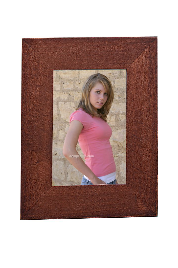 """Simple Wood Picture Frame- 5""""X7"""" (Walnut)"""