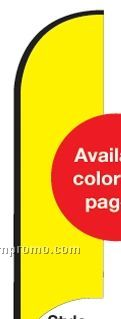 11' Street Talker Feather Flag Complete Kit (Yellow)