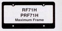Hi-impact 3-d Maximum License Plate Frame W/4 Holes