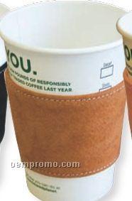 Jasper Brown Suede Leather Coffee Sleeves
